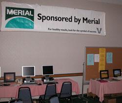 Merial Sponsors The Media Room
