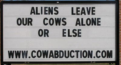 Alien Warning Sign