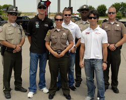 Ryan Hunter-Reay With Highway Patrol