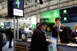 Information desk at the John Deere Agritechnica Exhibit