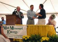 Governor Blunt presents keys to Chevy Tahoe