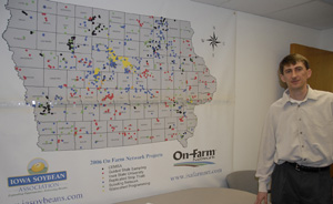 Peter Kyveryga with the Iowa Soybean Association's On-Farm Network